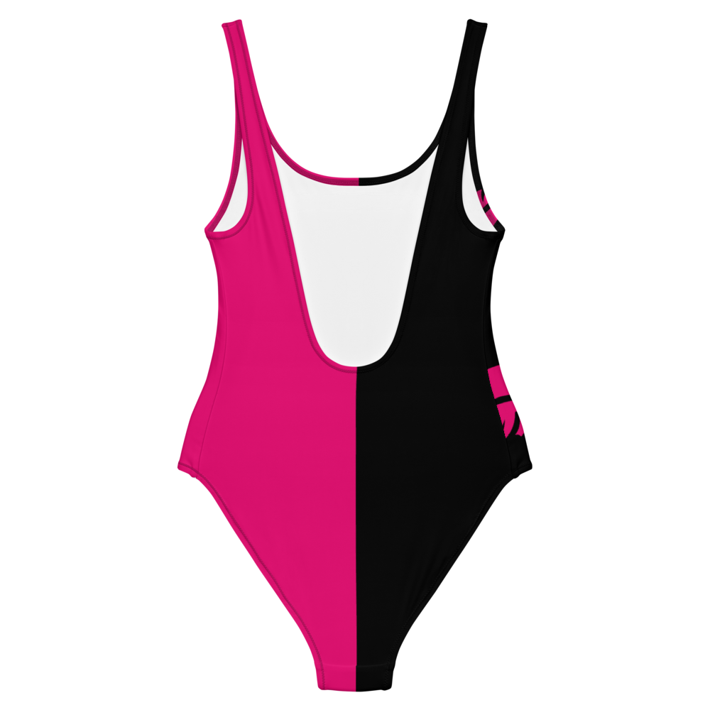 Pink One-Piece Satanme Ungodly Swimsuit