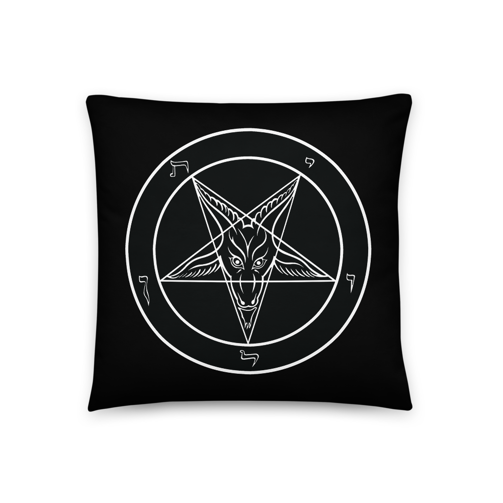 Square Baphomet Throw Pillow