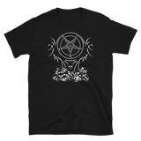White Satanic Phoenix Graphic Shirt