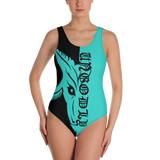 Teal One-Piece Satanme Ungodly Swimsuit