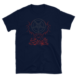 Red Satanic Phoenix Graphic Shirt