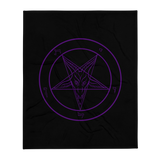 Ungodly Purple Reign Baphomet Throw Blanket