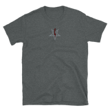 Embroidered Red Bolt LaVey Sigil Shirt