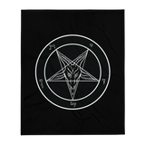 Ungodly Classic Baphomet Throw Blanket