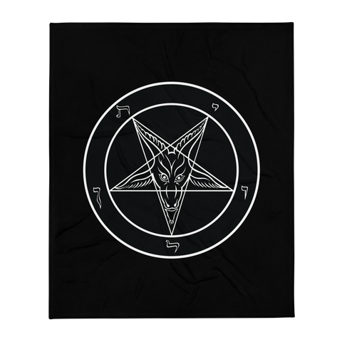 Ungodly Baphomet Throw Blanket