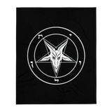 Ghost Baphomet Throw Blanket