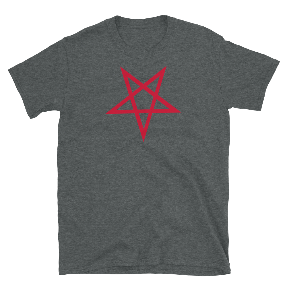 Red Inverted Star Graphic Shirt