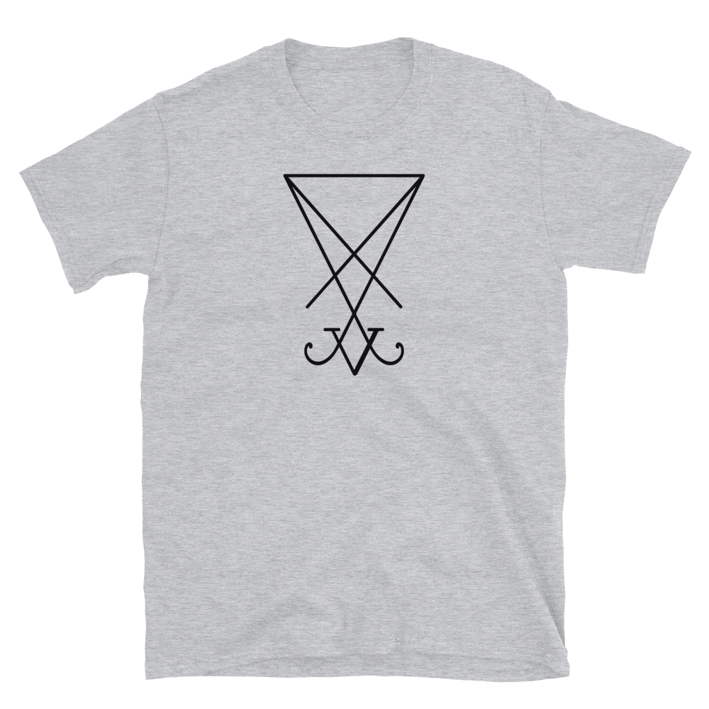 Black Lucifer Sigil Graphic Shirt