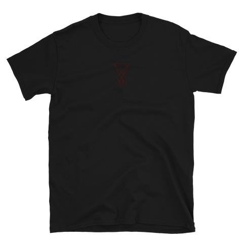 Embroidered Ungodly Lucifer Sigil shirt