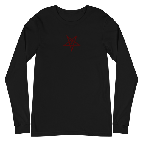 Embroidered Pentagrammon Long Sleeve Tee