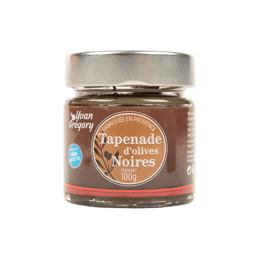 Tapenade d'olives noires 100g | Yvan & Grégory