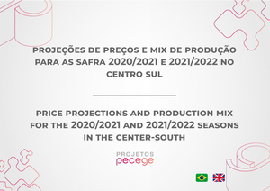 Price projections and production mix for crop 2020/2021 and 2021/2022 in the south center