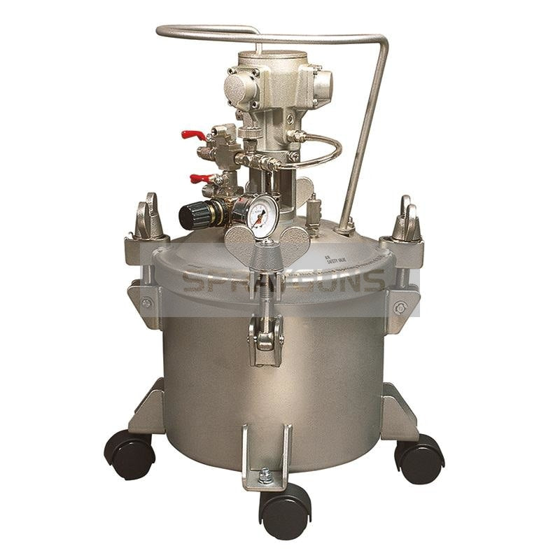 Paint Pressure Tank Stainless 10 Litre Air Driven Agitator