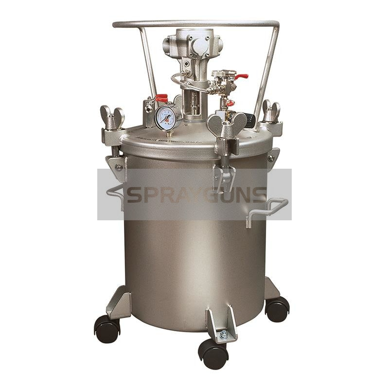 Paint Pressure Tank Stainless 50 Litre Air Driven Agitator