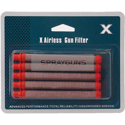 X Type Airless Pencil Filter Red 5 Pack Push In Design