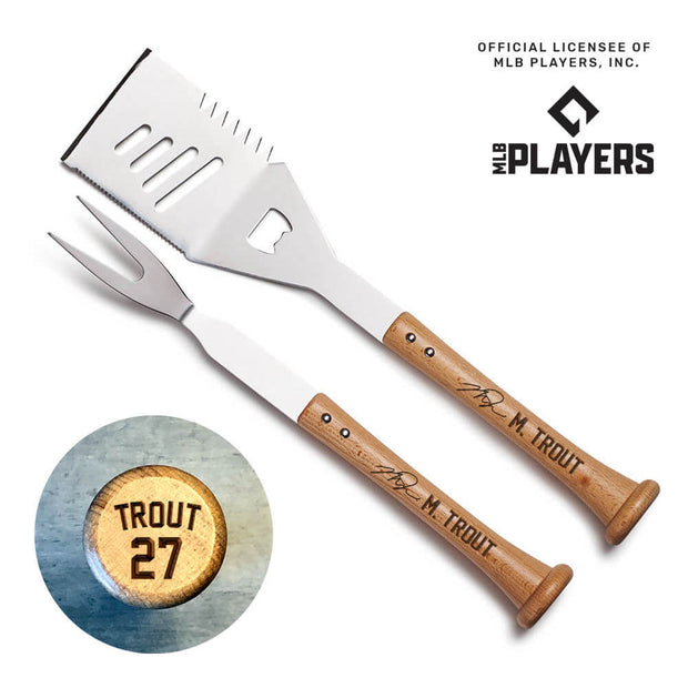 Mike Trout Signature Turn Two Grill Set