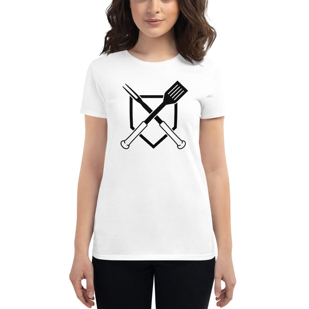 Crossed Plate Women's Fitted T-Shirt