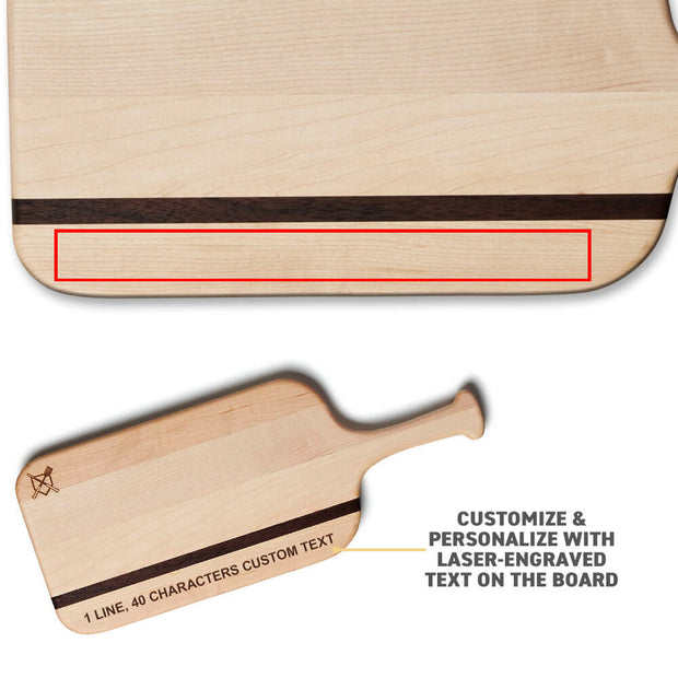 Sweet Spot Serving Board with Custom Text Engraving