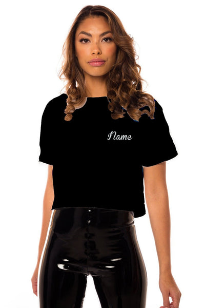 Cropped Girls Tour T-Shirt - Black