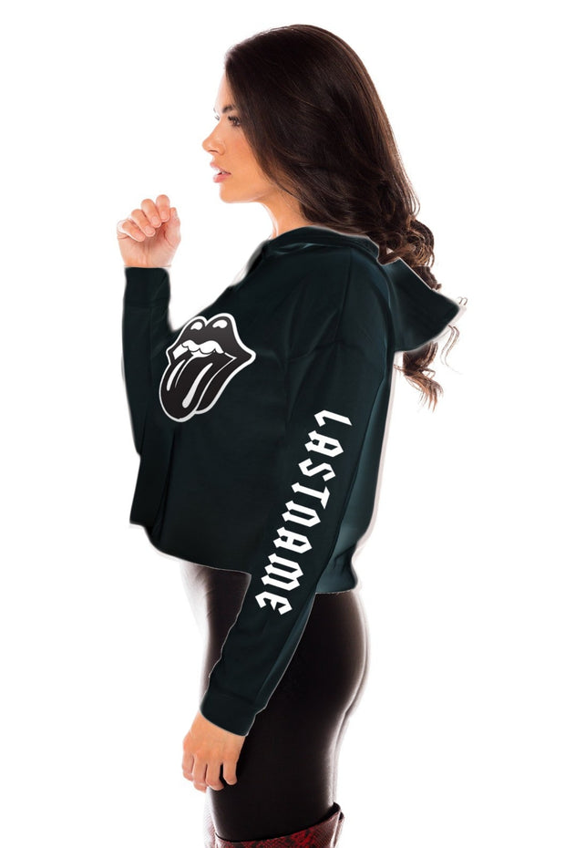Rock n Roll All Night Cropped Hoodie