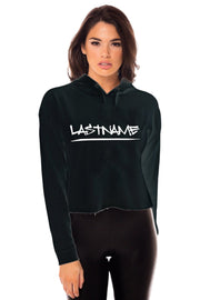Writing on The Wall Cropped Hoodie