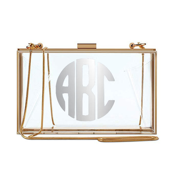 Clear Monogram Clutch - Silver