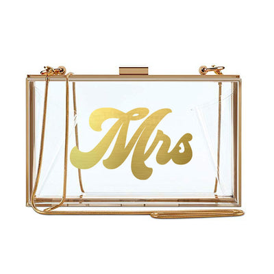 Clear Mrs Clutch - Gold