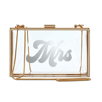 Clear Mrs Clutch - Silver