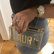 Clear Nameplate Clutch - Block