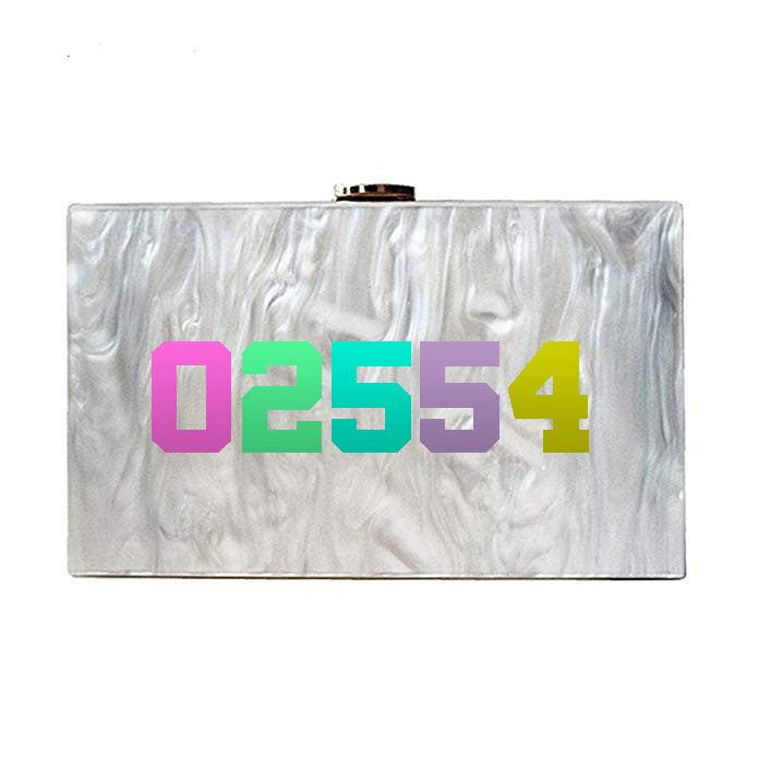 Pearl Zip Code Clutch - Multi
