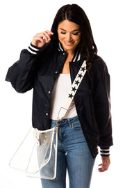 Clear Stadium Crossbody w/ Pouch