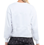 Lucky in Love Ruche Back Long Sleeve White