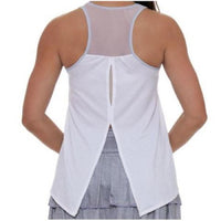 Lucky in Love Tie-back Tank White