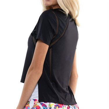 Lucky in Love Mixed Up High Low Short Sleeve Black