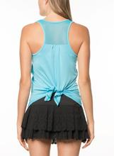 Lucky in Love Tie-back Tank Black