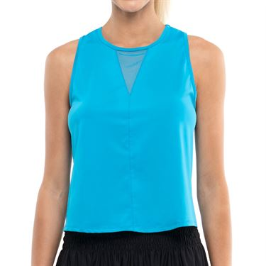 Lucky in Love Pleats Please Tank Turquoise