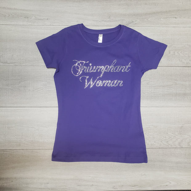 Triumphant Woman Bling Tee