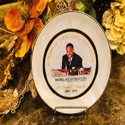 Apostle Charles E. Perry 30 Years of Preaching the Gospel Commemorative Plate