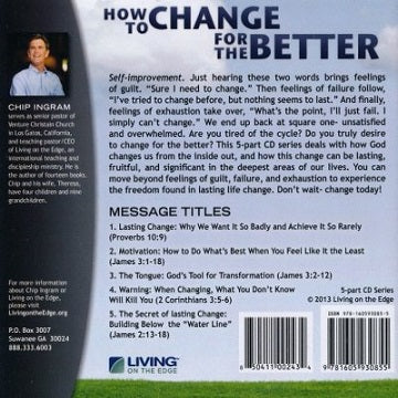 How to Change for the Better CD Series, Chip Ingram