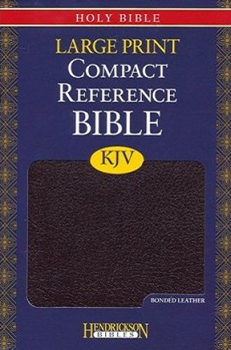 KJV Large-Print Compact Reference Bible, Bonded leather, Burgundy