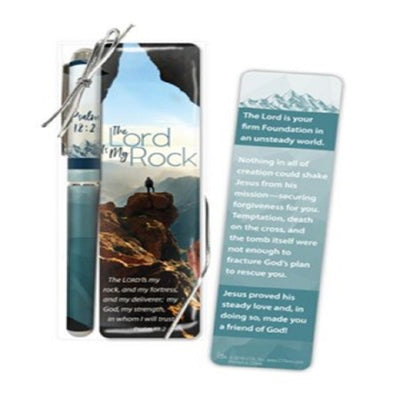 The Lord Is My Rock Pen and Bookmark Gift Set