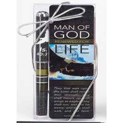 Man of God, Pen & Bookmark Gift Set