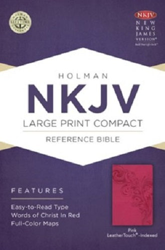 NKJV Large Print Personal Size Reference Bible,  LeatherTouch