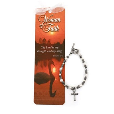 Beads of Wisdom Bracelet & Bookmark: Woman of Faith