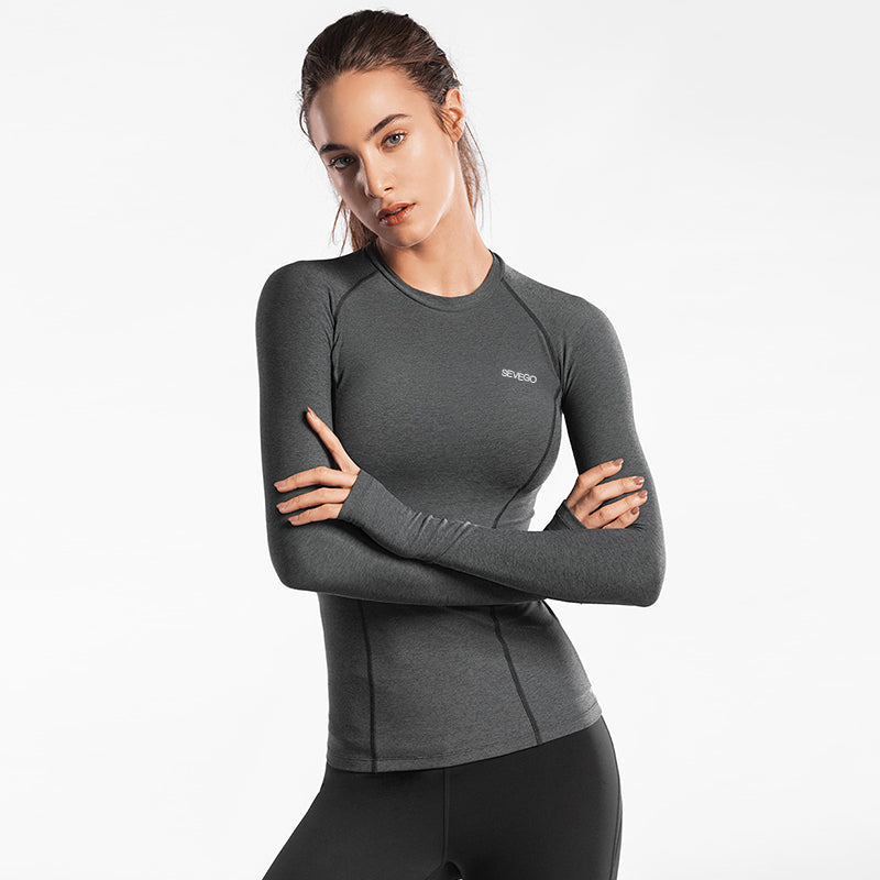 SEVEGO Women Long Sleeve Sports Shirt