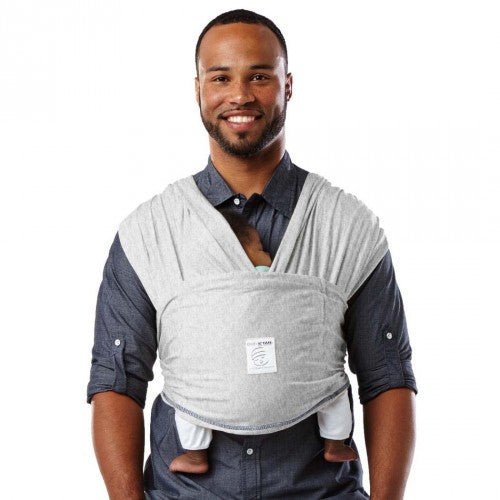 Baby K'Tan Solid Cotton Carrier Heather Grey - Baby Carrier