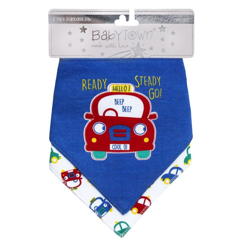 """Cars"" Bib Twin Pack"