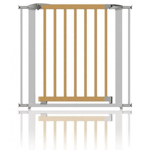 Clippasafe Gate Extendable Swing Shut Wood & Silver