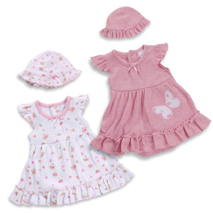 Cotton Bodyvest Dress Set (3-8lbs) - Pink and Blue Baby Boutique