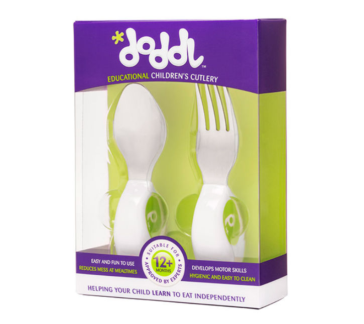 Doddl Knife, Fork & Spoon Set - Pink and Blue Baby Boutique
